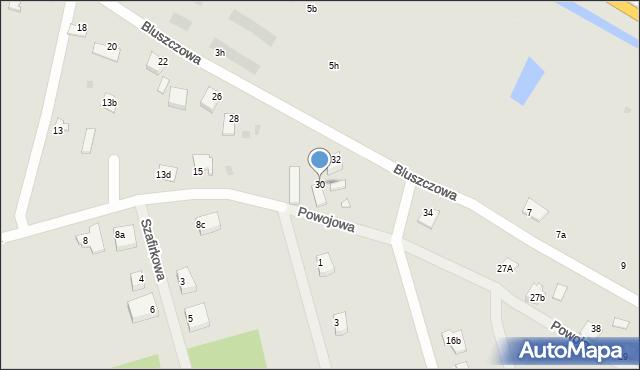 Grudziądz, Bluszczowa, 30, mapa Grudziądza