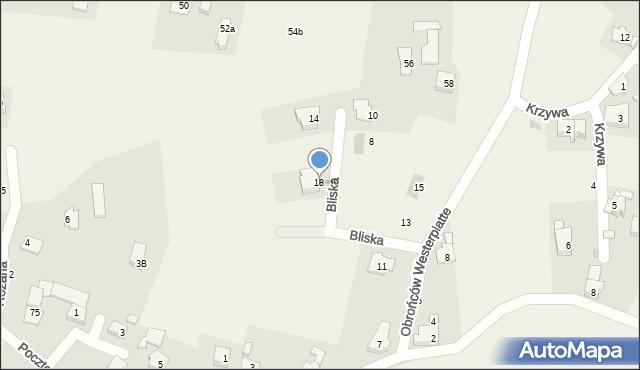 Jawiszowice, Bliska, 18, mapa Jawiszowice