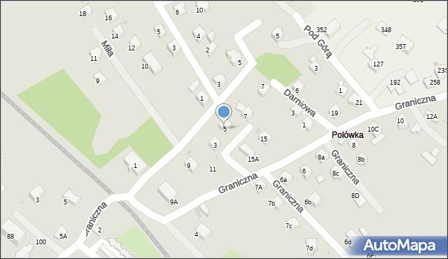 Limanowa, Błękitna, 5, mapa Limanowa