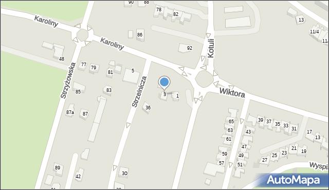 Rzeszów, bł. Karoliny, 3, mapa Rzeszów