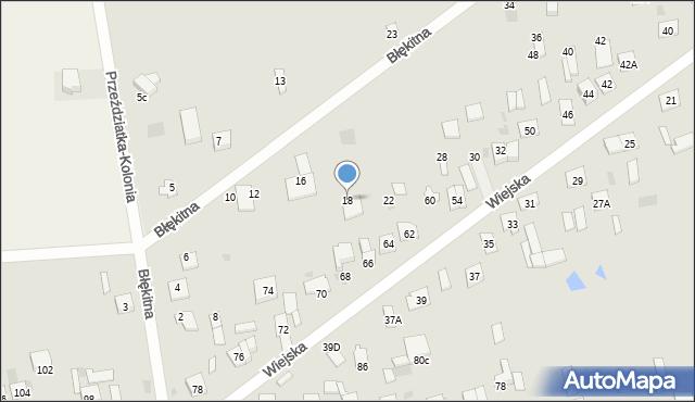 Sokołów Podlaski, Błękitna, 18, mapa Sokołów Podlaski