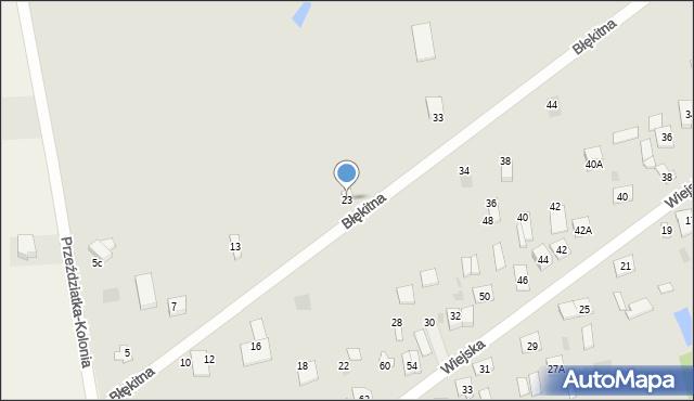 Sokołów Podlaski, Błękitna, 23, mapa Sokołów Podlaski
