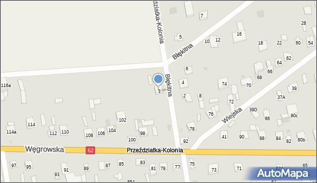 Sokołów Podlaski, Błękitna, 3, mapa Sokołów Podlaski