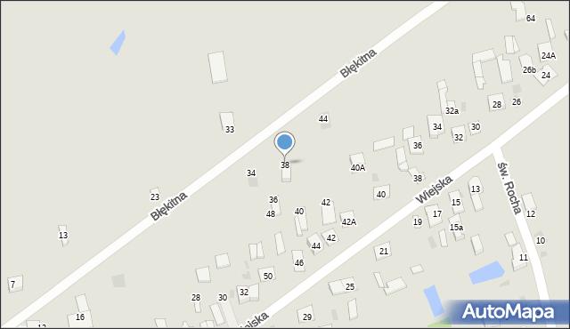 Sokołów Podlaski, Błękitna, 38, mapa Sokołów Podlaski