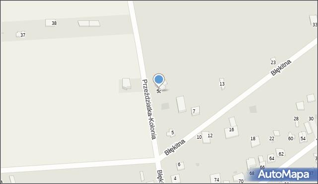 Sokołów Podlaski, Błękitna, 5c, mapa Sokołów Podlaski