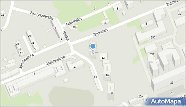 Warszawa, Bliska, 14, mapa Warszawy