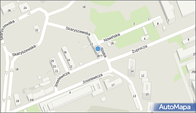 Warszawa, Bliska, 19, mapa Warszawy