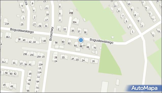 Białystok, Bogusławskiego Wojciecha, 66, mapa Białegostoku