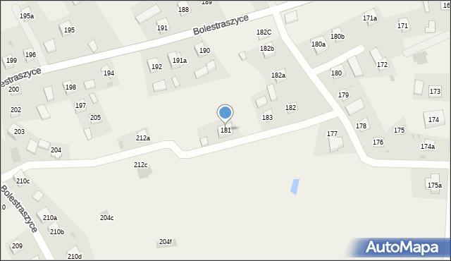 Bolestraszyce, Bolestraszyce, 181, mapa Bolestraszyce