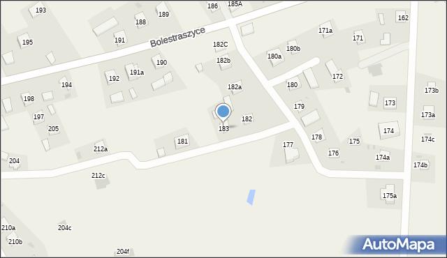 Bolestraszyce, Bolestraszyce, 183, mapa Bolestraszyce