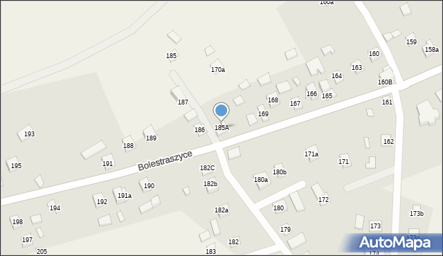 Bolestraszyce, Bolestraszyce, 185A, mapa Bolestraszyce