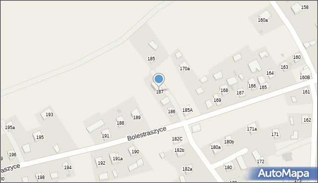 Bolestraszyce, Bolestraszyce, 187, mapa Bolestraszyce