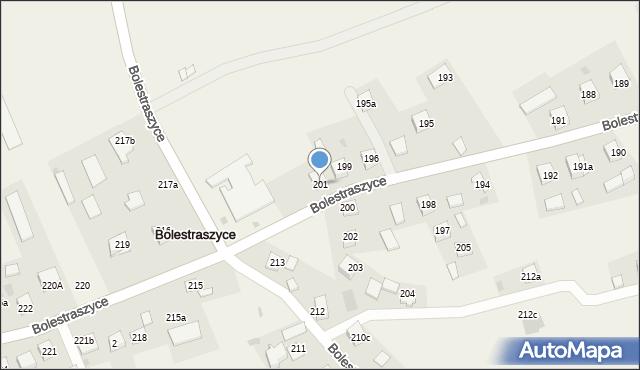 Bolestraszyce, Bolestraszyce, 201, mapa Bolestraszyce