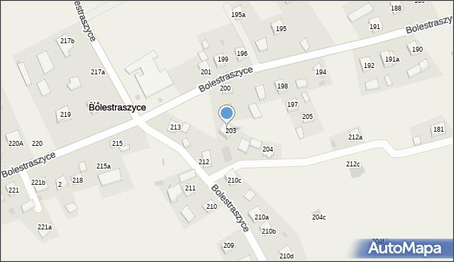 Bolestraszyce, Bolestraszyce, 203A, mapa Bolestraszyce
