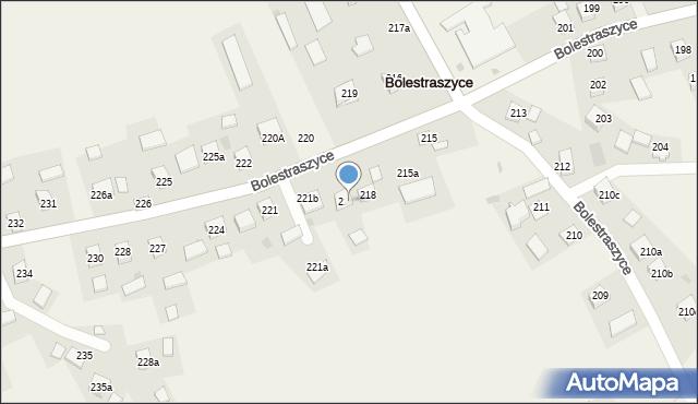Bolestraszyce, Bolestraszyce, 218a, mapa Bolestraszyce