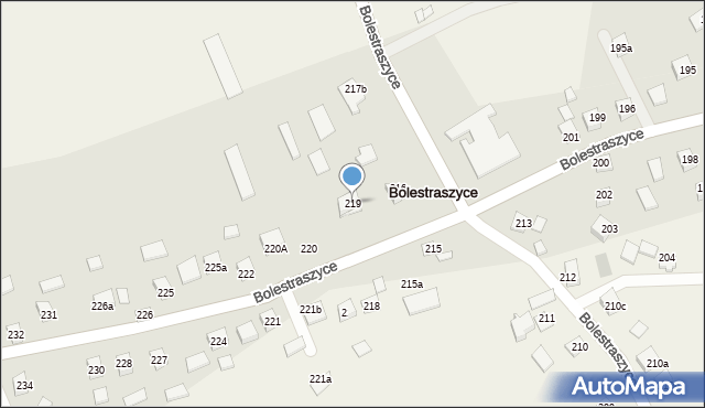 Bolestraszyce, Bolestraszyce, 219, mapa Bolestraszyce