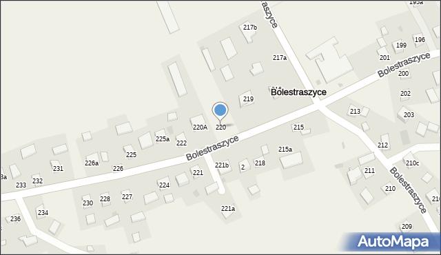 Bolestraszyce, Bolestraszyce, 220, mapa Bolestraszyce