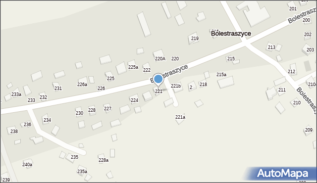 Bolestraszyce, Bolestraszyce, 221, mapa Bolestraszyce