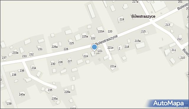 Bolestraszyce, Bolestraszyce, 223, mapa Bolestraszyce