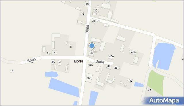 Borki, Borki, 39, mapa Borki