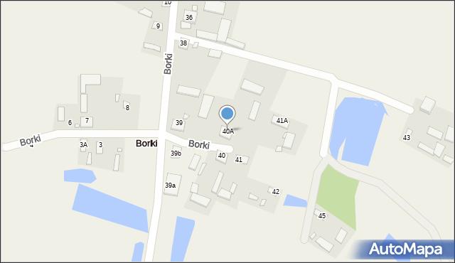 Borki, Borki, 40A, mapa Borki
