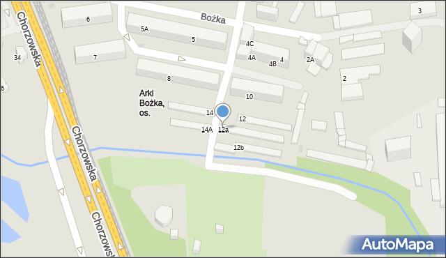 Bytom, Bożka Arki, 12a, mapa Bytomia