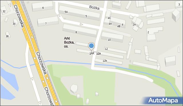 Bytom, Bożka Arki, 14A, mapa Bytomia