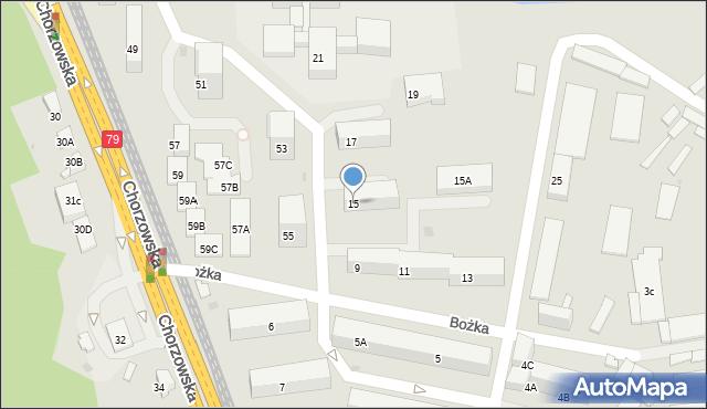 Bytom, Bożka Arki, 15, mapa Bytomia