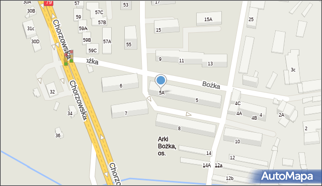 Bytom, Bożka Arki, 5A, mapa Bytomia