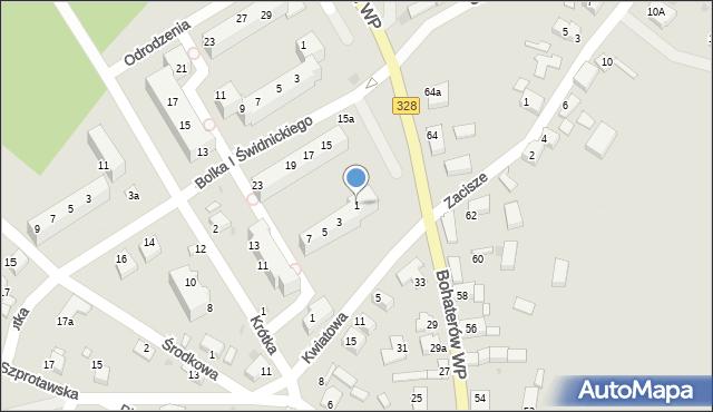 Chocianów, Bolka I Świdnickiego, 1, mapa Chocianów