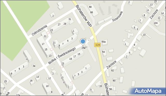Chocianów, Bolka I Świdnickiego, 15a, mapa Chocianów
