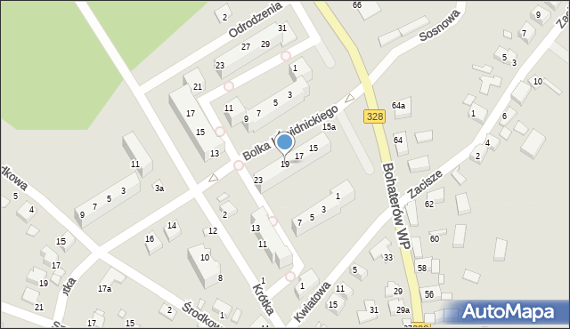 Chocianów, Bolka I Świdnickiego, 19, mapa Chocianów