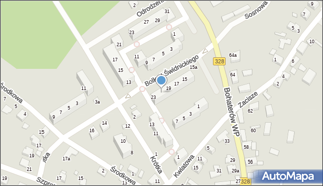 Chocianów, Bolka I Świdnickiego, 21, mapa Chocianów