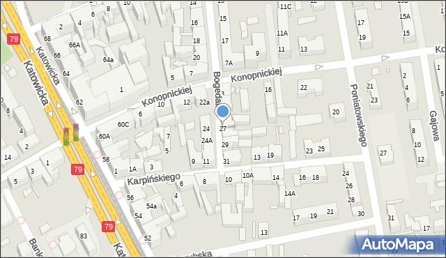 Chorzów, Bogedaina Bernarda, ks. bp., 27, mapa Chorzów