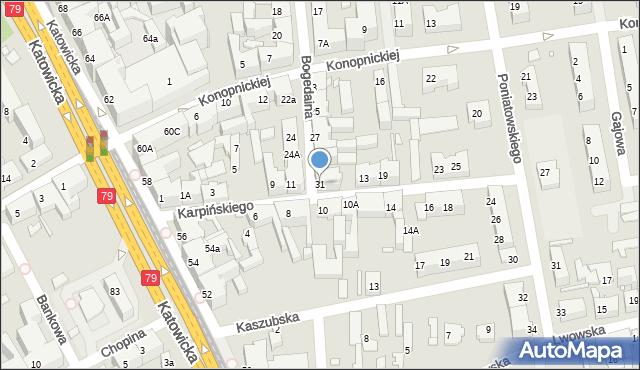 Chorzów, Bogedaina Bernarda, ks. bp., 31, mapa Chorzów