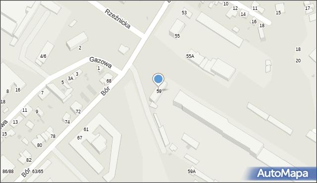 Częstochowa, Bór, 59, mapa Częstochowy