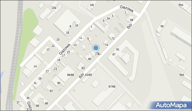 Częstochowa, Bór, 78A, mapa Częstochowy