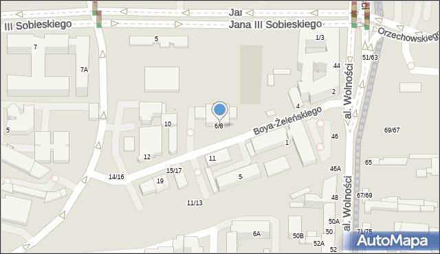 Częstochowa, Boya-Żeleńskiego Tadeusza, 6/8, mapa Częstochowy