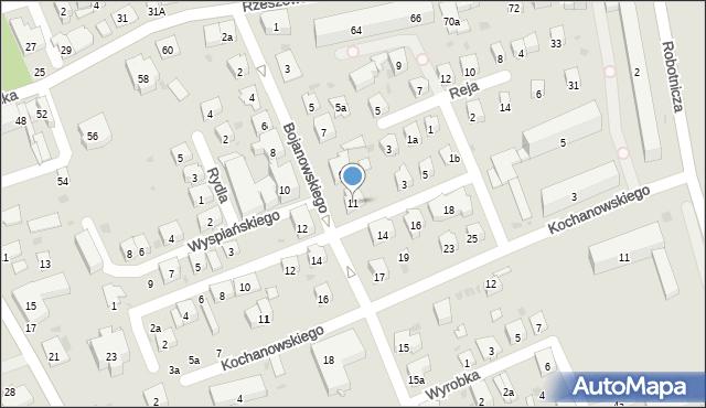 Dębica, Bojanowskiego, 11, mapa Dębicy