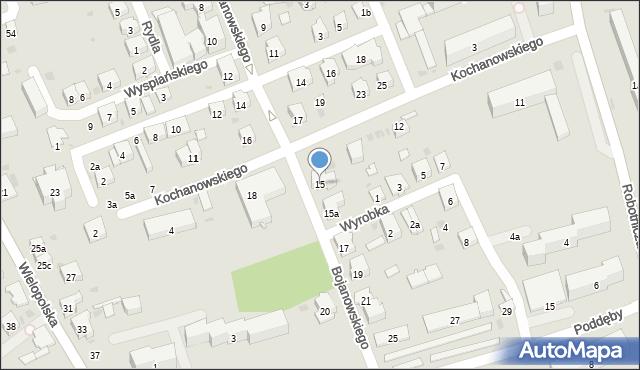 Dębica, Bojanowskiego, 15, mapa Dębicy