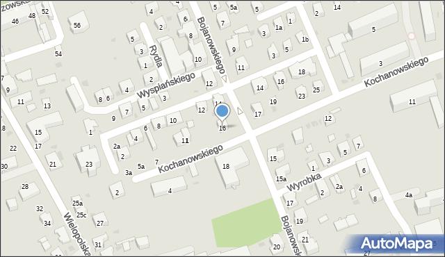 Dębica, Bojanowskiego, 16, mapa Dębicy