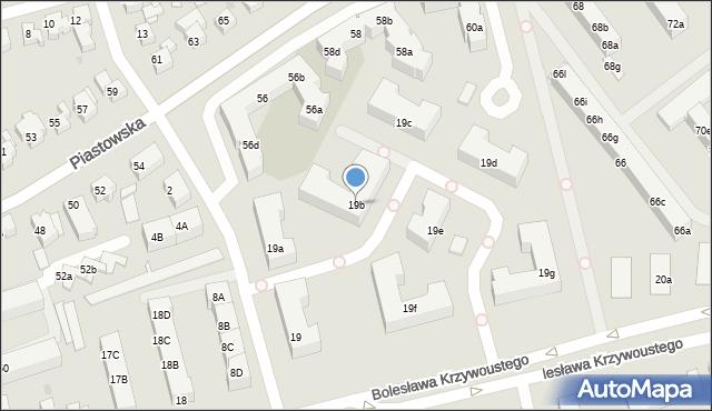 Gdańsk, Bolesława Krzywoustego, 19b, mapa Gdańska