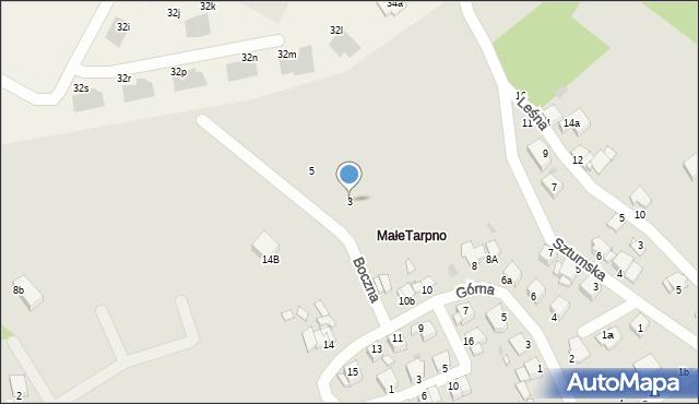 Grudziądz, Boczna, 3, mapa Grudziądza