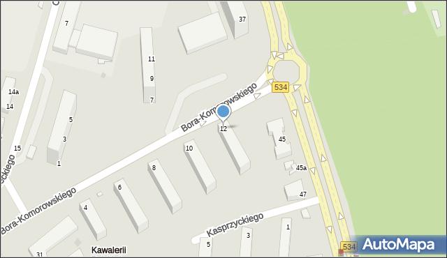Grudziądz, Bora-Komorowskiego Tadeusza, gen., 12, mapa Grudziądza