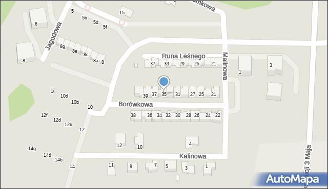 Grudziądz, Borówkowa, 35, mapa Grudziądza