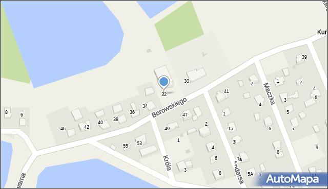 Harmęże, Borowskiego, 32, mapa Harmęże