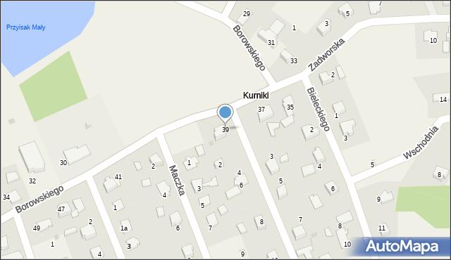 Harmęże, Borowskiego, 39, mapa Harmęże