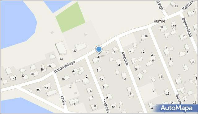 Harmęże, Borowskiego, 41, mapa Harmęże