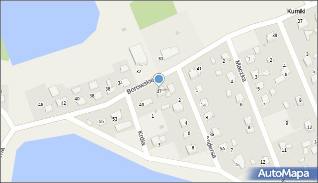 Harmęże, Borowskiego, 47, mapa Harmęże