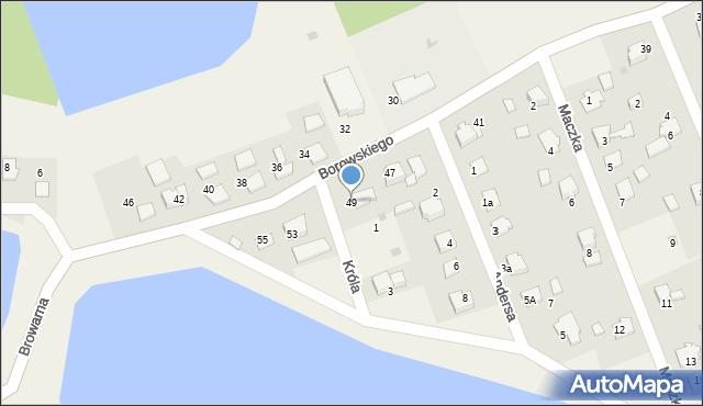 Harmęże, Borowskiego, 49, mapa Harmęże